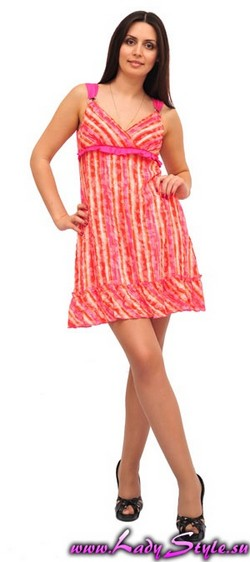 Платье розовое женское легкое